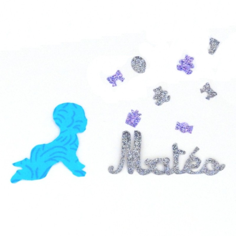 Fabriquer Petite Chambre Froide : Appliqué thermocollant bébé bleu personnalisé  Nanou Cadeaux