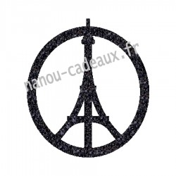 Appliqué thermocollant tour eiffel peace