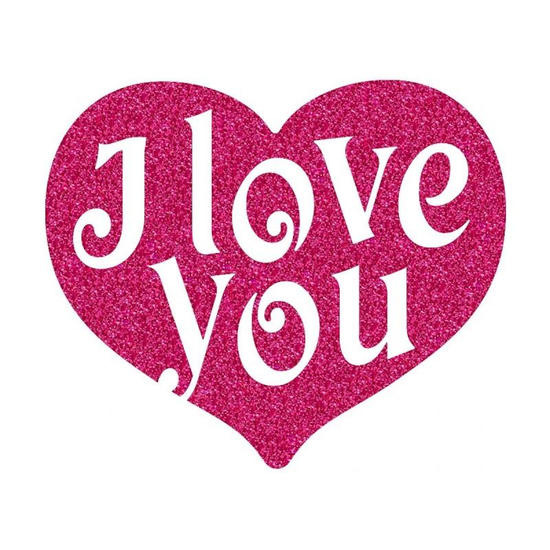 Appliqu thermocollant c ur i love you nanou cadeaux - Images avec des coeurs ...