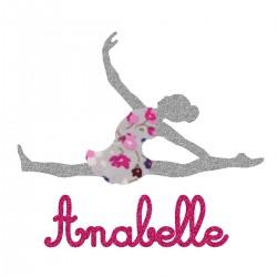 Appliqué thermocollant personnalisé danseuse rose