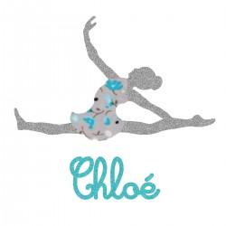 Appliqué thermocollant personnalisé danseuse bleu