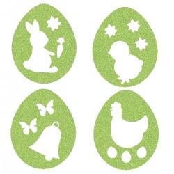 Appliqué thermocollant œufs de Pâques