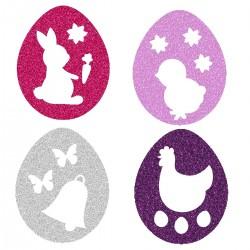 Appliqué thermocollant œufs de Pâques 4 couleurs N° 3