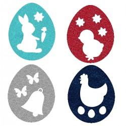 Appliqué thermocollant œufs de Pâques 4 couleurs N° 2