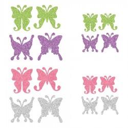 Appliqué thermocollant personnalisé lot 16 papillons couleur pastel