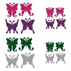 Appliqué thermocollant personnalisé lot 16 papillons multicolors
