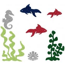 Appliqué thermocollant personnalisé poissons rouges