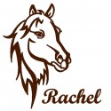 Appliqué thermocollant personnalisé cheval en flex velours marron