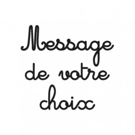 Appliqué thermocollant velours personnalisé message écriture 1