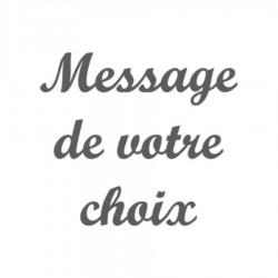Appliqué thermocollant velours personnalisé message 30 caractères écriture 4