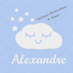 Appliqué thermocollant personnalisé nuage blanc en flex velours