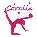 Appliqué thermocollant personnalisé gymnaste rythmique en flex pailleté