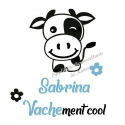 Appliqué thermocollant velours personnalisé vache cool
