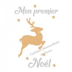 Appliqué thermocollant personnalisé renne premier Noël