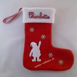 Botte chaussette personnalisé père Noël avec prénom