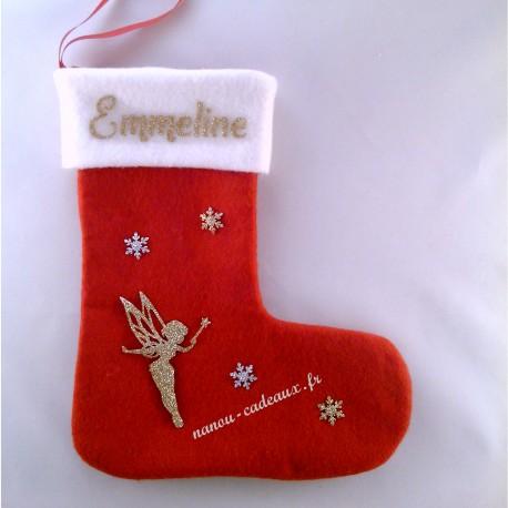 Botte chaussette personnalisé prénom et petite fée