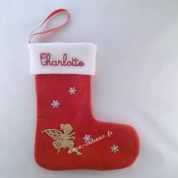 Botte Noël personnalisée fée avec prénom