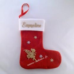 Botte Noël personnalisée prénom fée