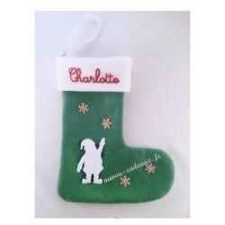 Botte verte personnalisé père Noël avec prénom