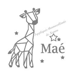 Appliqué thermocollant personnalisé girafe origami en flex pailleté