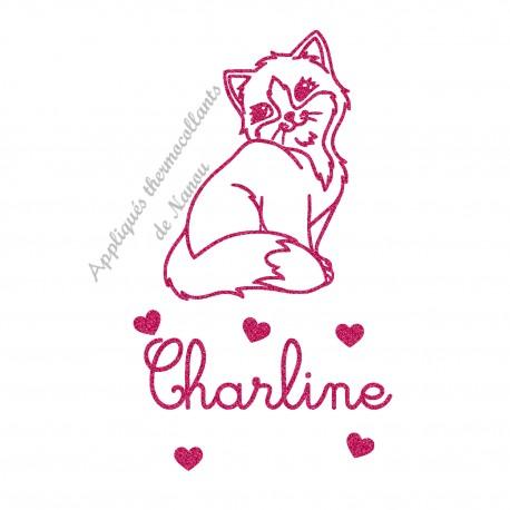 Appliqué thermocollant pailleté adorable chat personnalisé