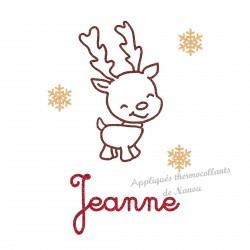 Déco petit renne de Noël en appliqué thermocollant