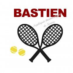 Appliqué thermocollant tennis velours personnalisé