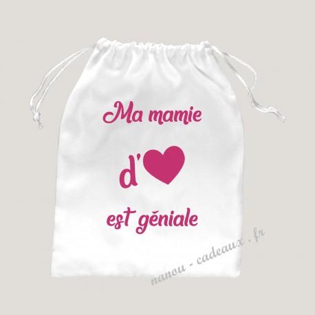 Petit sac mamie d'amour géniale velours pochon