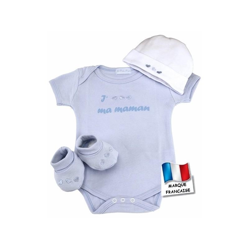 aca346aa3d752 Ensemble bébé cœur bleu body
